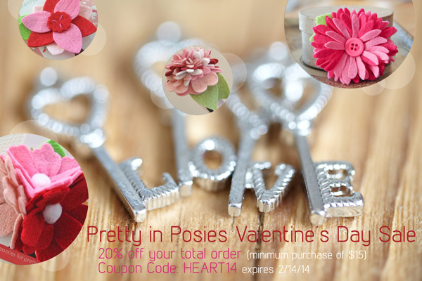 pretty in posies valentine's day sale