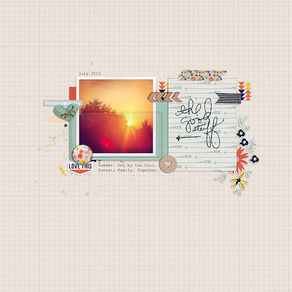 digital scrapbook layout by Jenn McCabe
