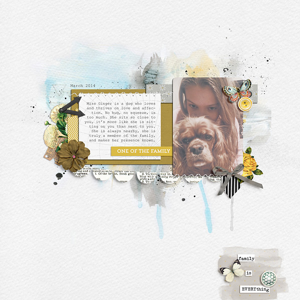 digital scrapbook page by Jenn McCabe