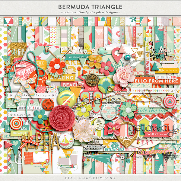 Pixel & Co Bermuda Triangle Blog Hop Freebie